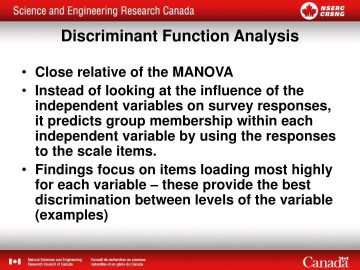 Close relative of the MANOVA