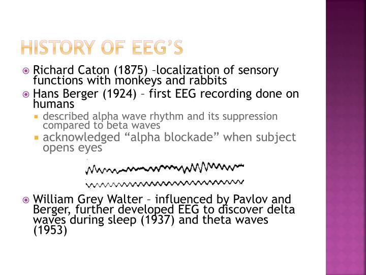 History of EEG's