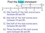 find the false statement