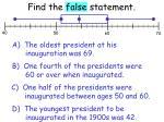 find the false statement1