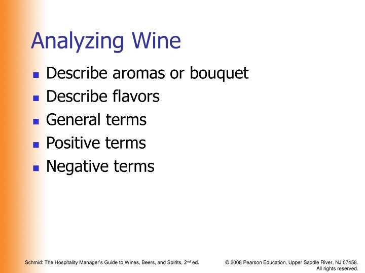 Analyzing Wine