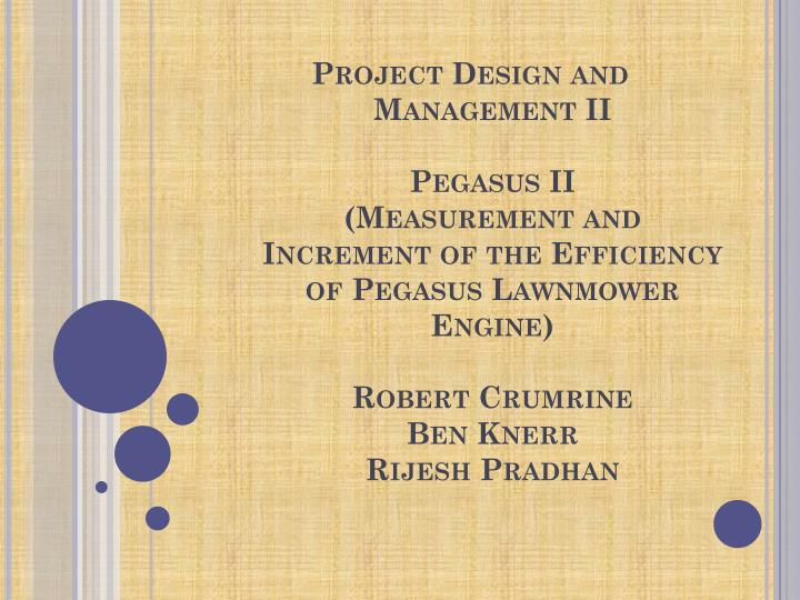 Project Design and Management II