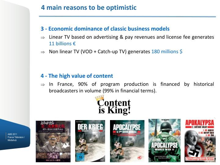 4 main reasons to be optimistic