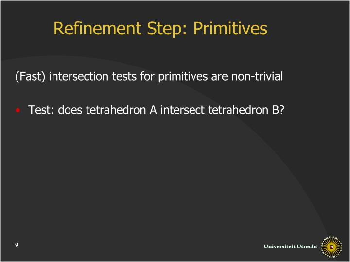 Refinement Step: Primitives