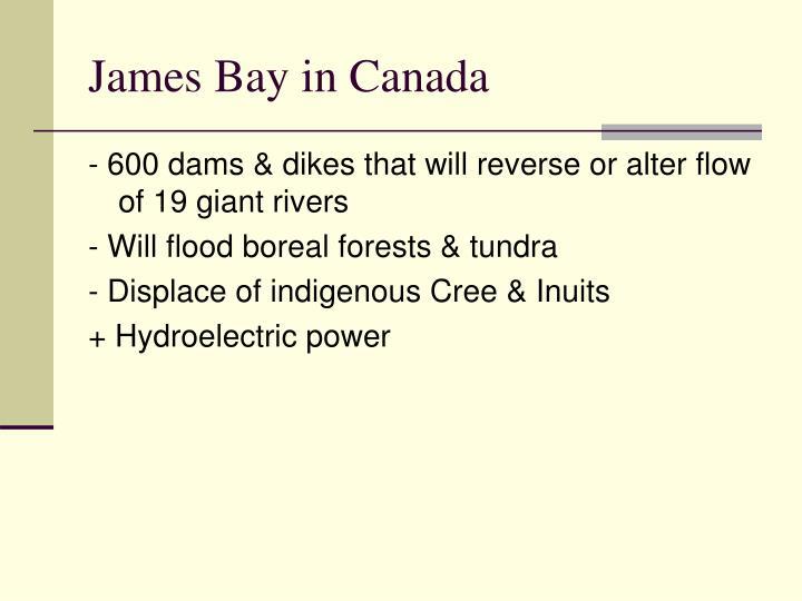 James Bay in Canada