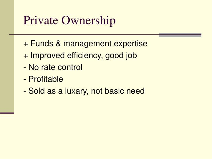 Private Ownership
