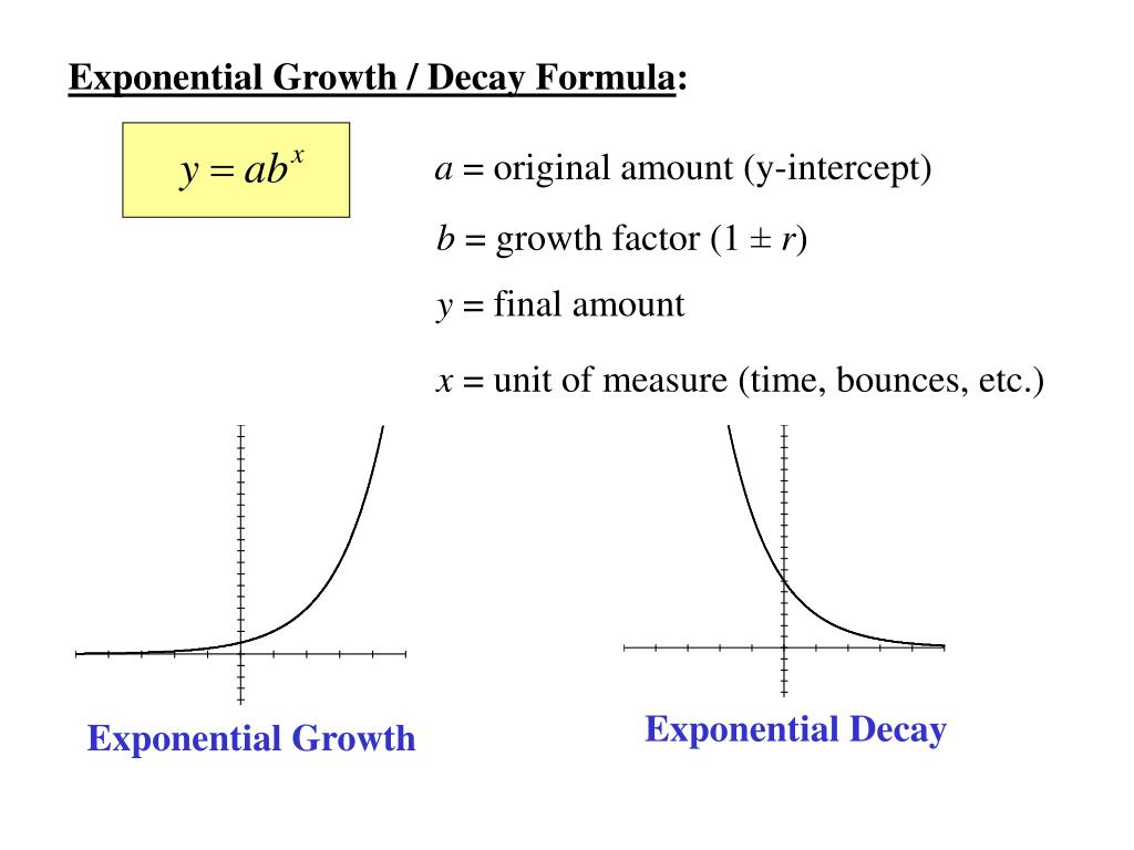 ppt - exponential growth / decay formula : powerpoint presentation