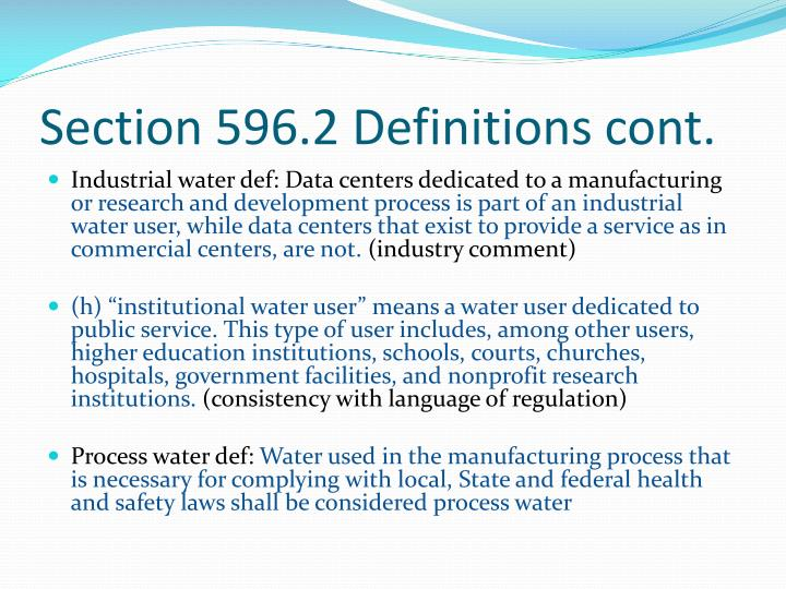 Section 596.2 Definitions cont.