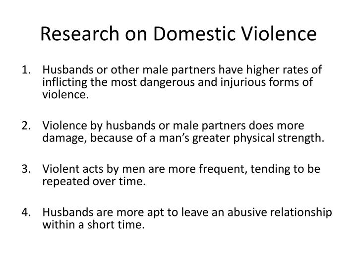 Research on Domestic Violence