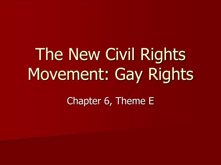 essay on gay rights movement