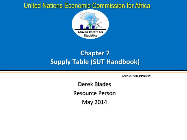 Chapter 7 supply table sut handbook
