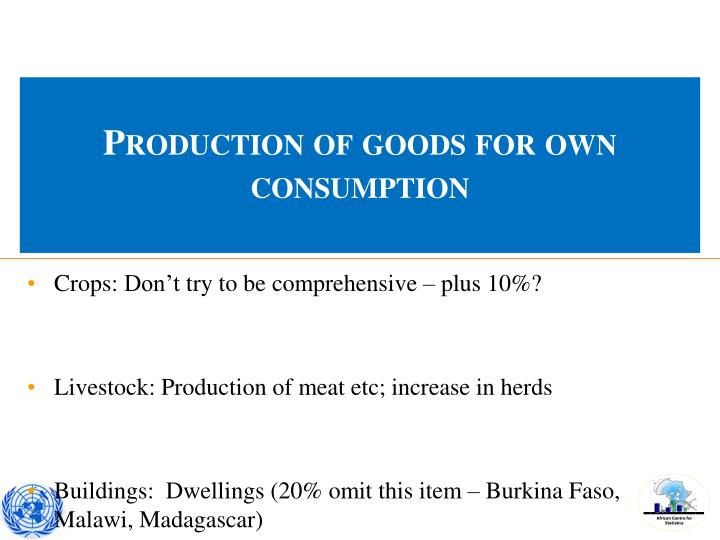 Production of goods for own consumption