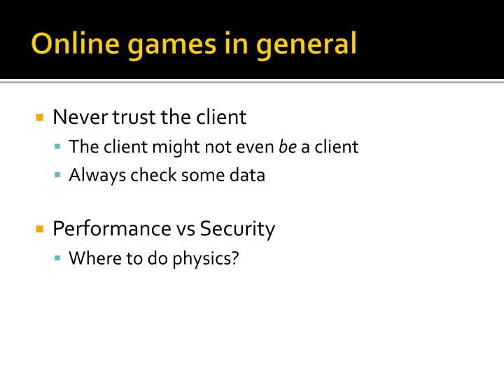 Online games in