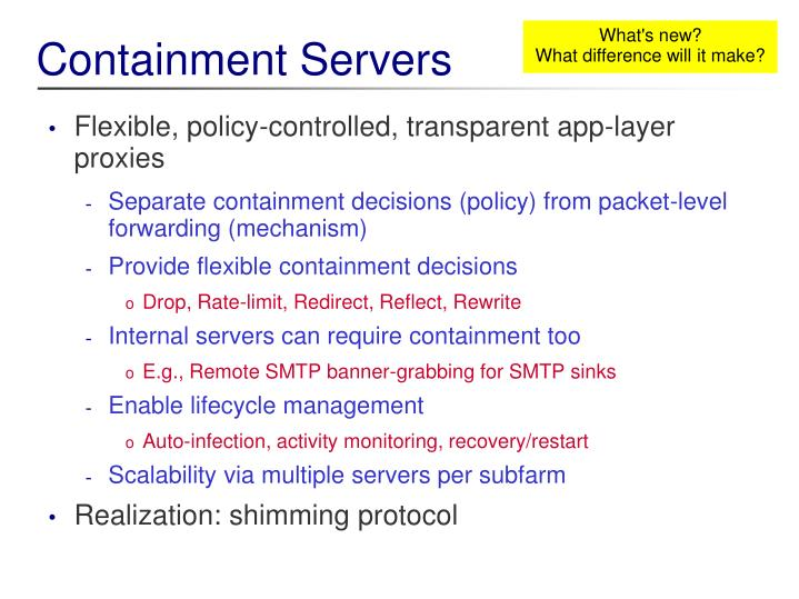 Containment Servers