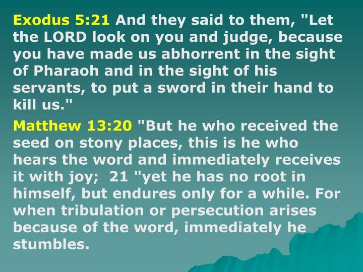 Exodus 5:21