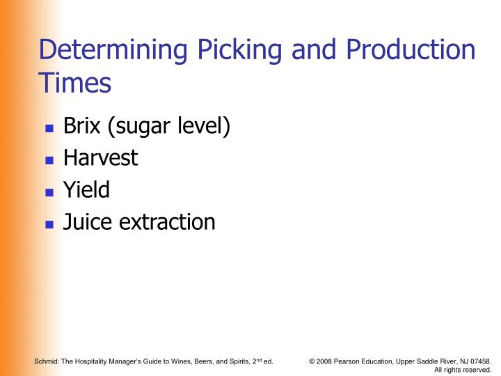 Determining Picking and Production Times