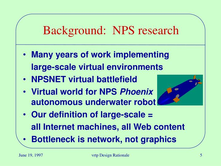 Background:  NPS research
