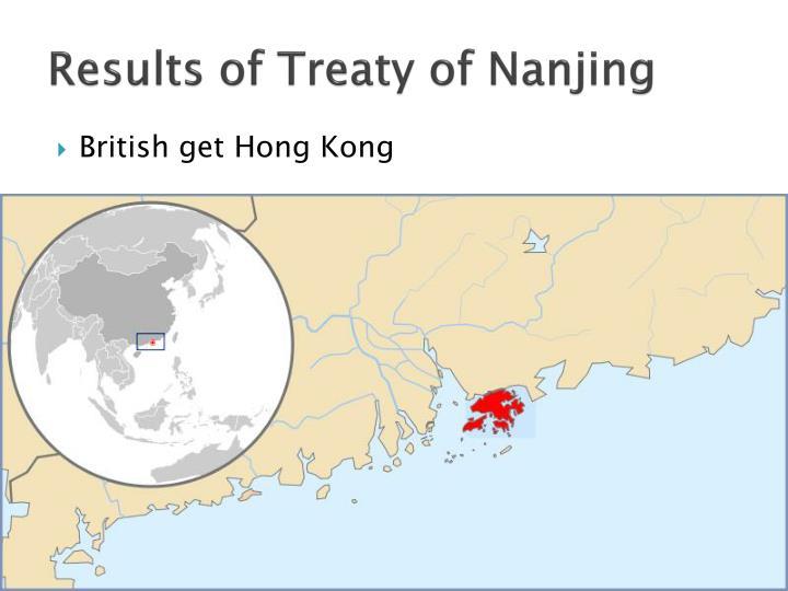Results of Treaty of Nanjing