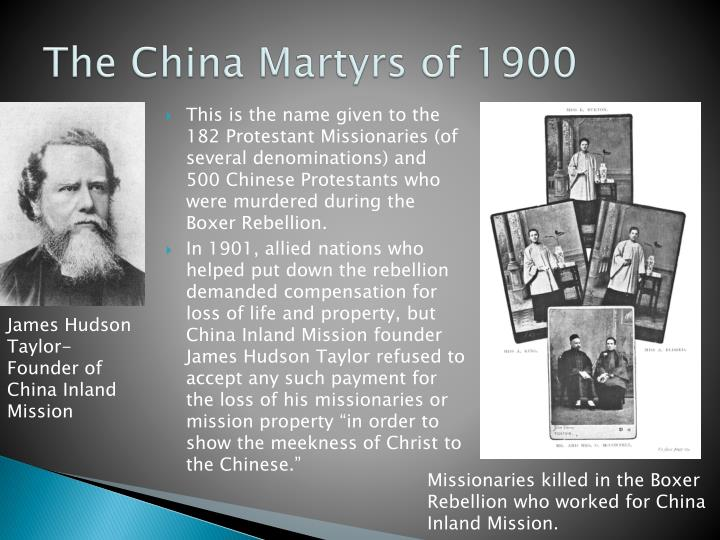 The China Martyrs of 1900