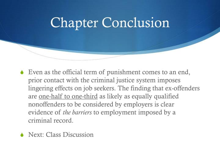 Chapter Conclusion