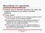 bounding in general