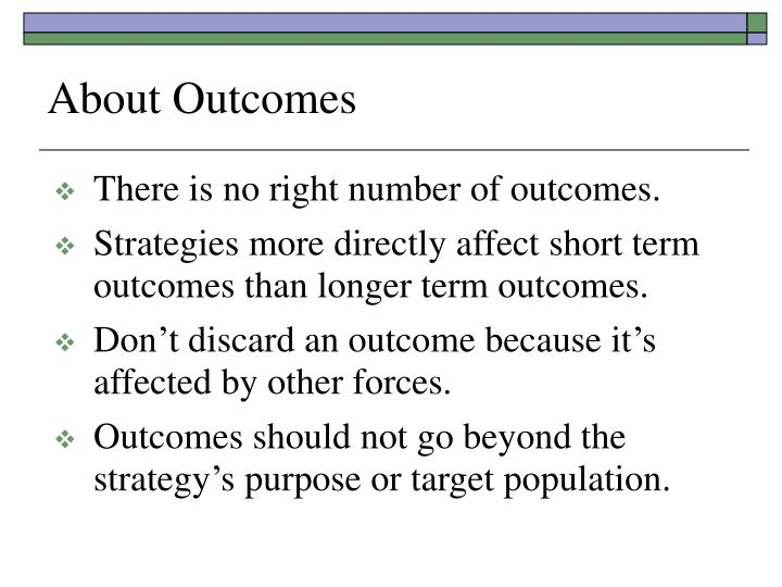 About Outcomes