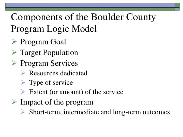 Components of the Boulder County