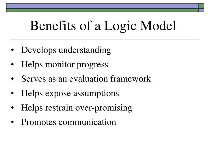 Benefits of a Logic Model