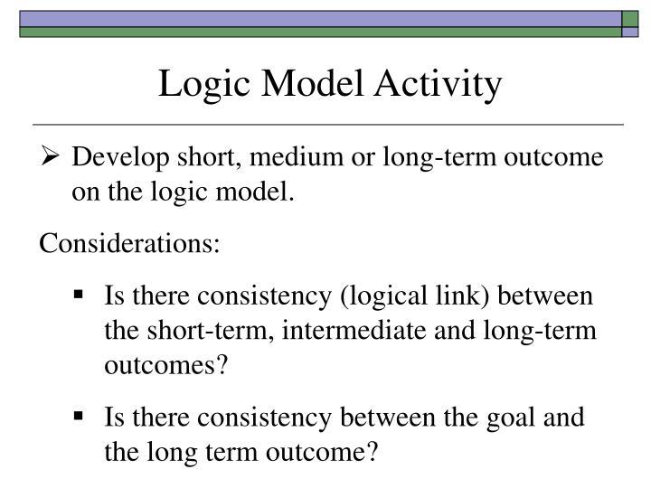 Logic Model Activity
