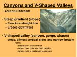 canyons and v shaped valleys