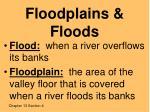 floodplains floods