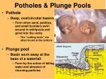 potholes plunge pools