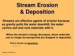 stream erosion deposition