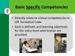 basic specific competencies