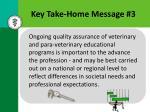 key take home message 3