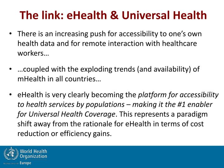 The link: eHealth & Universal Health