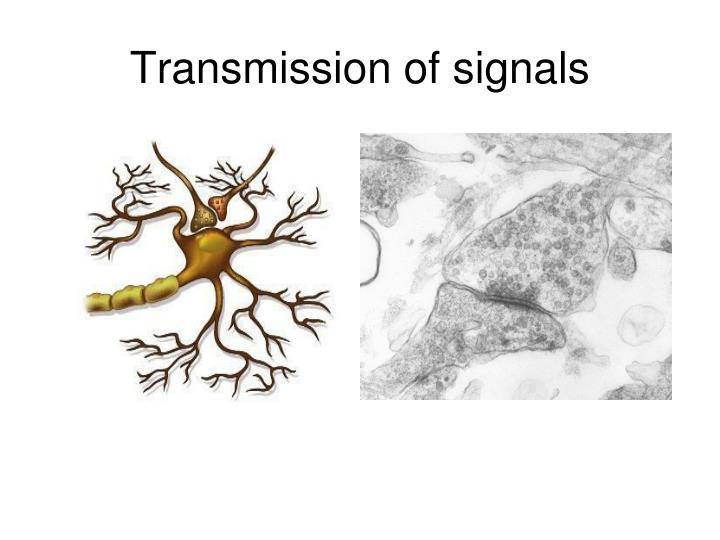 Transmission of signals