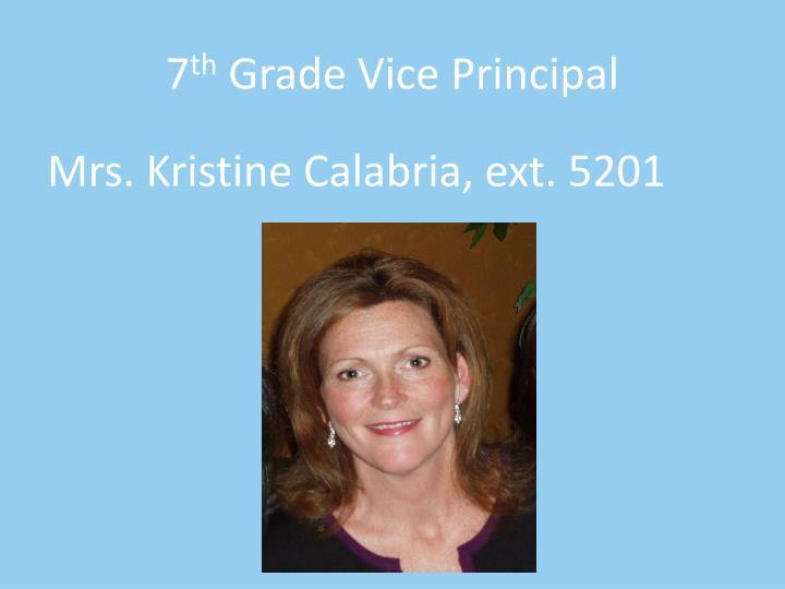 7 th grade vice principal