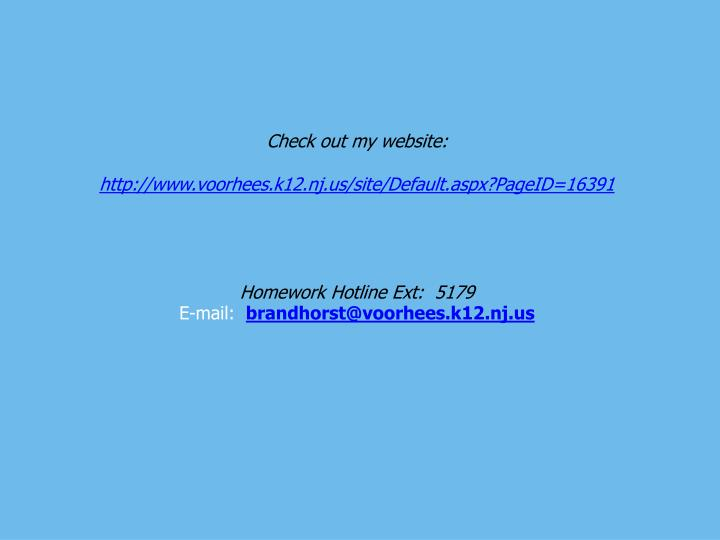 Check out my website: