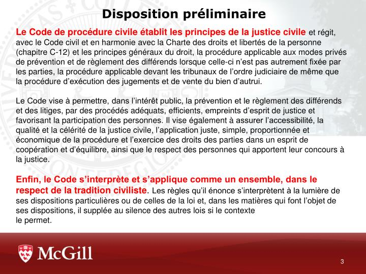 Disposition pr liminaire