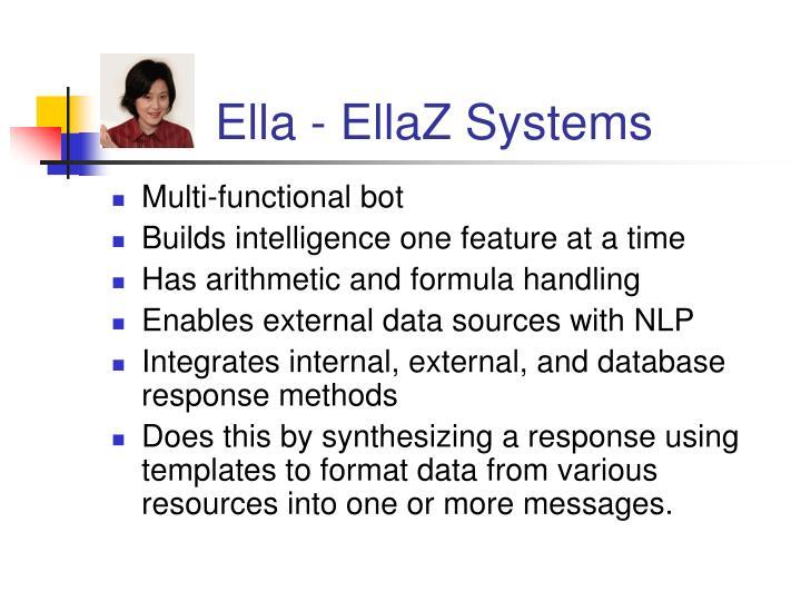 Ella - EllaZ Systems