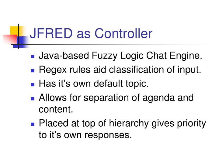 JFRED as Controller