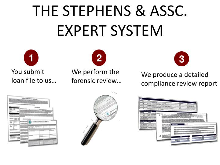 the STEPHENS & ASSC. expert system