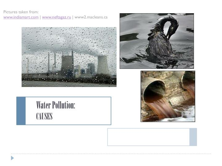 water pollution causes n.