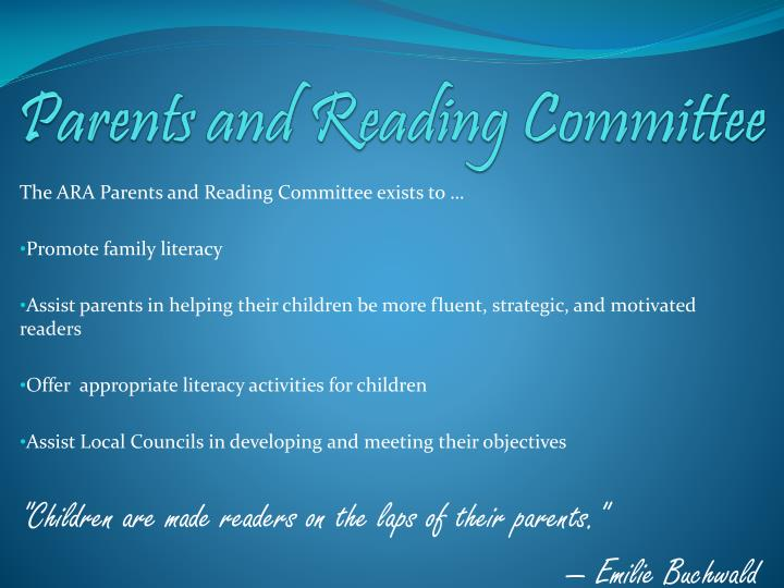 parents and reading committee n.