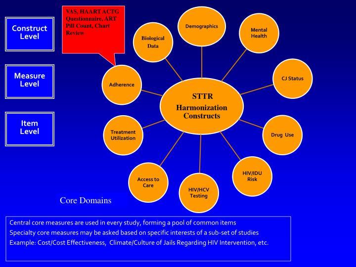VAS, HAART ACTG Questionnaire, ART Pill Count, Chart Review