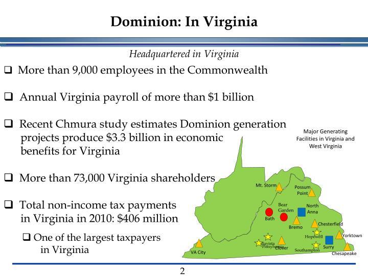 Dominion in virginia