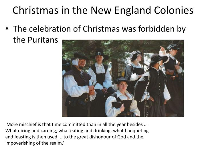 Christmas in the New England Colonies