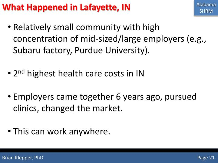 What Happened in Lafayette, IN