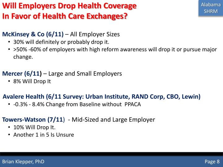 Will Employers Drop Health Coverage